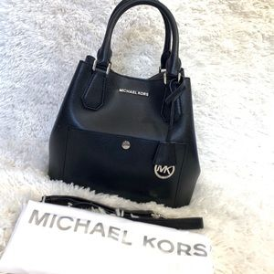 Michael Kors Bucket Bag Tote Black Leather Handbag